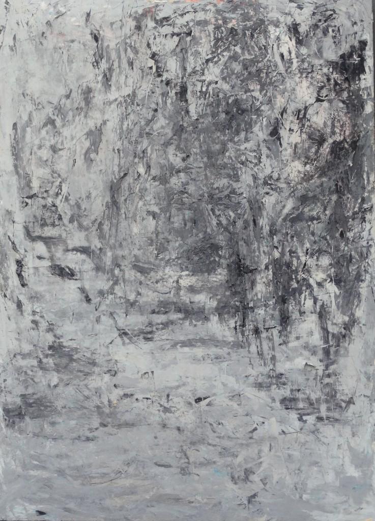 Au fond huile sur papier 50x70 2015 (2)