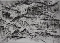 pestera piatra altarului 1 charcoal 30x40 2016